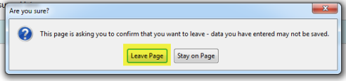 Leave page